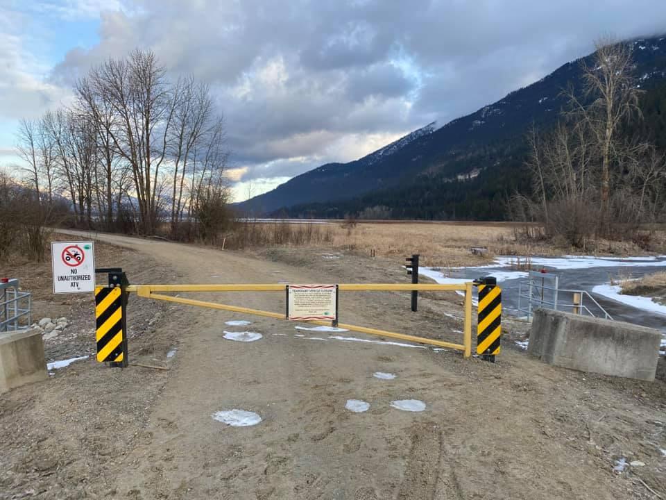 Vehicle Access Closure at Duck Lake South Dike February 23, 2021