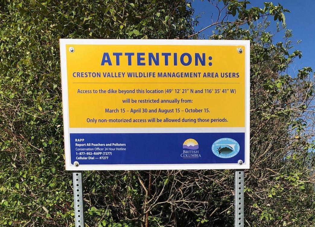 Motorized Vehicle Closure of South Dike at Duck Lake